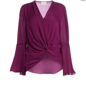 Cinq a sept Monica Silk Top
